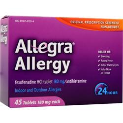 Chattem Allegra Allergy 45 tabs