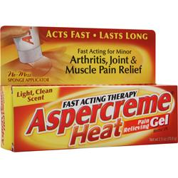 Chattem Aspercreme Heat - Pain Relieving Gel 2.5 oz