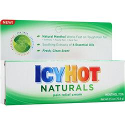Chattem IcyHot Naturals - Pain Relief Cream 2.5 oz