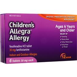 Chattem Allegra Allergy - Children's 6 tabs