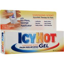 Chattem IcyHot Vanishing Scent Pain Relieving Gel 2.5 oz