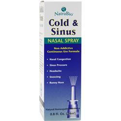 natrabio cold sinus nasal spray 0 8 fl oz liquid natrabio cold amp sinus nasal spray on at allstarhealth 665