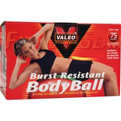 VALEO Burst Resistant Body Ball 75 centimeters - Red 1 unit