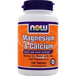 NOW Magnesium & Calcium 100 tabs