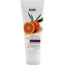 NOW Vitamin C & Oryza Sativa Gentle Scrub 4 fl.oz