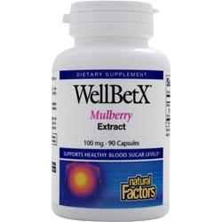 Natural Factors WellBetX Mulberry Extract 90 caps