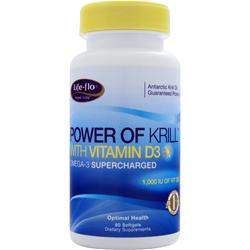 Life-Flo Power of Krill with Vitamin D3 60 sgels