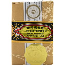 BEE AND FLOWER Sandal Wood Soap 4.4 oz