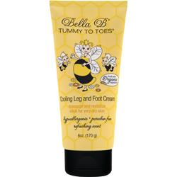 Bella B Tummy To Toes - Cooling Leg and Foot Cream 6 oz