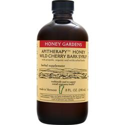 HONEY GARDENS Apitherapy Honey - Wild Chery Bark Syrup 8 fl.oz