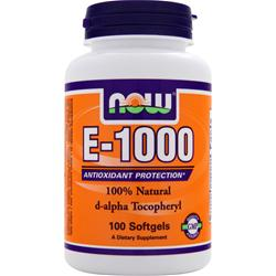 NOW E-1000 d-alpha Tocopheryl 100 sgels