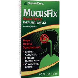NATURAL CARE MucusFix Nasal Spray with Menthol 2X .5 fl.oz