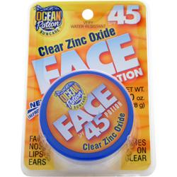 Ocean Potion Clear Zinc Oxide Face Potion SPF 45 1 oz