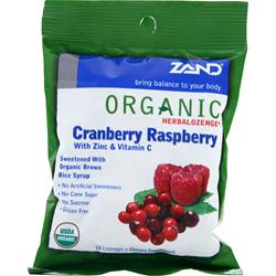 ZAND Organic Herbalozenge Cranberry Raspberry 18 lzngs