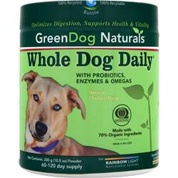 Green Dog Naturals Whole Dog Daily Powder Natural Chicken Flavor 300 grams
