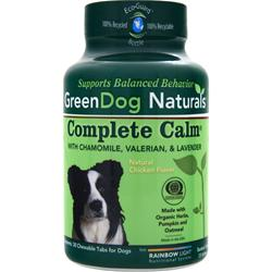 Green Dog Naturals Complete Calm Natural Chicken Flavor 30 chews