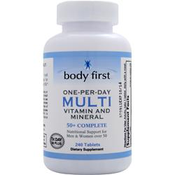 BODY FIRST One-Per-Day Multi - Vitamin and Mineral 50+ Complete 240 tabs