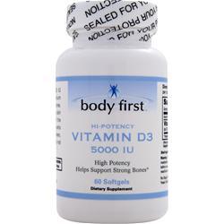 Body First Vitamin D3 (5000IU) 60 sgels