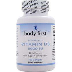 Body First Vitamin D3 (5000IU) 120 sgels