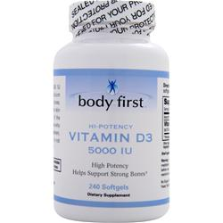 BODY FIRST Vitamin D3 (5000IU) 240 sgels
