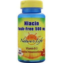 Nature's Life Niacin - Flush Free (500mg) 100 tabs