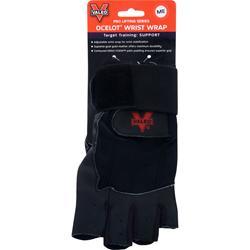 Valeo Ocelot Lifting Gloves Wrist Wrap Black (M) 2 glove