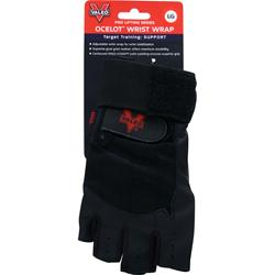 VALEO Ocelot Lifting Gloves Wrist Wrap Black (L) 2 glove