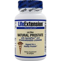 Life Extension Ultra Natural Prostate with ApresFlex and Standardized Lignans 60 sgels