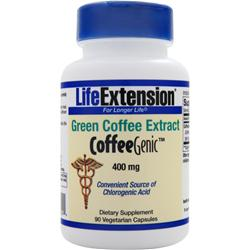LIFE EXTENSION CoffeeGenic - Green Coffee Extract (400mg) 90 vcaps