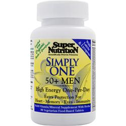 SUPER NUTRITION Simply One 50+ Men - High Energy One-Per-Day 90 tabs