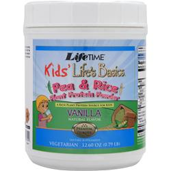 Lifetime Kids' Life's Basics - Pea & Rice Plant Protein Powder Vanilla 12.6 oz