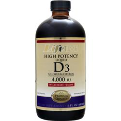 LIFETIME Liquid D3 - High Potency Wild Berry 16 fl.oz