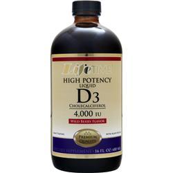 Lifetime Liquid D3 - High Potency Wild Berry 16 fl.oz
