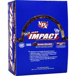 VPX SPORTS Zero Impact Bar German Chocolate 12 bars