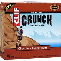 Clif Bar Crunch Granola Bar Chocolate Peanut Butter 10 bars