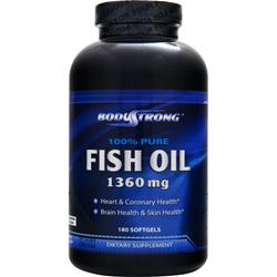 BodyStrong 100% Pure Fish Oil (1360mg) 180 sgels