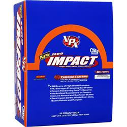 VPX Sports Zero Impact Bar Pumpkin Supreme 12 bars