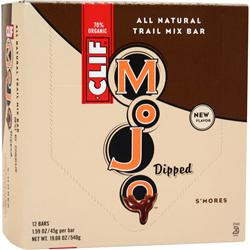 CLIF BAR Mojo Dipped Bar S'mores 12 bars