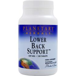 PLANETARY FORMULAS Lower Back Support (839mg) 120 tabs