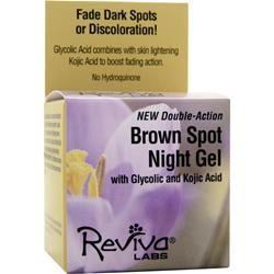 REVIVA LABS Brown Spot Night Gel with Glycolic Acid and Kojic Acid 1.25 oz