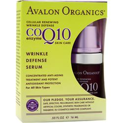 AVALON ORGANICS CoQ10 Enzyme Skin Care Wrinkle Defense Serum .55 fl.oz