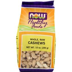 NOW Whole, Raw Cashews 10 oz