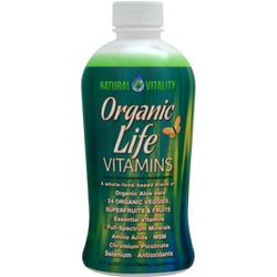 NATURAL VITALITY Organic Life Vitamins Raspberry-Cranberry 30 fl.oz