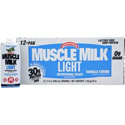 CYTOSPORT Muscle Milk Light RTD Vanilla Creme (17 fl. oz) 12 bttls