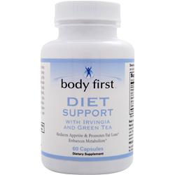 BODY FIRST Diet Support with Irvingia and Green Tea Best by 12/14 60 caps