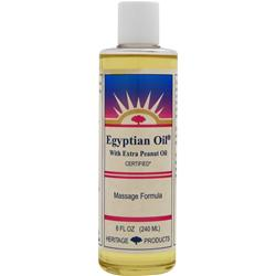 HERITAGE PRODUCTS Egyptian Oil with Extra Peanut Oil 8 fl.oz