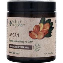 NAKED ORGANIX Body Butter Nourishing Therape Argan 3.77 oz