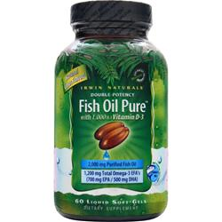 Irwin Naturals Fish Oil Pure (Double-Potency) 60 sgels
