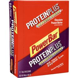 POWERBAR Protein Plus Reduced Sugar Bar Chocolate Peanut Butter 12 bars