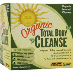 RENEW LIFE Organic Total Body Cleanse 1 kit